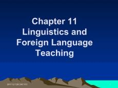Chapter 11 Linguistics and Foreign Language Teaching