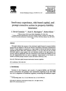 Insolvency experience  risk-based capital  and prompt corrective action in property-liability insurance