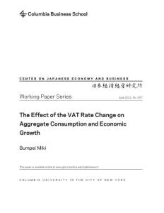 The Effect of the VAT Rate Change on Aggregate Consumption and...