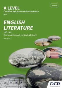 H474 ENGLISH LITERATURE - OCR