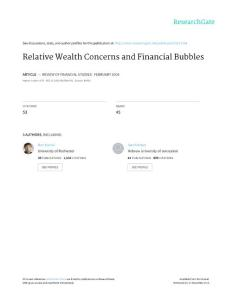 Relative Wealth Concern..