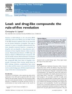 Lead- and drug-like compounds the rule-of-five revolution