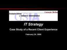 Case Study of a Recent ..