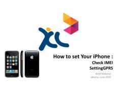 How to Set Iphone (IMEI & GPRS setting) v1