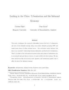 lurking in the cities urbanization and the informal economy:潜伏在城市的城市化与非正规经济