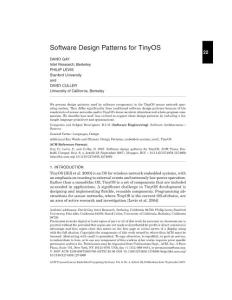 Software Design Patterns for TinyOS 22 - Stanford University