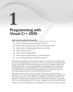 Programming with Visual C   2010