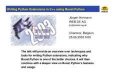 Python Extensions in C++
