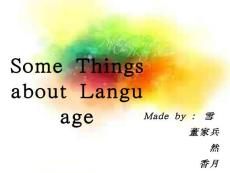 some things about langua..