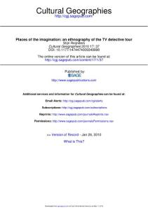 places of the imagination an ethnography of the tv detective tour