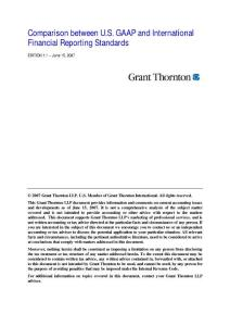 Grant Thornton - US GAAP and IFRS Comparison