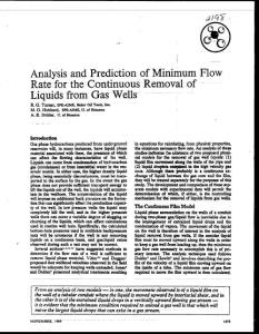 Analysis and Prediction of Minimum Flow Rate for the Continuous Removal of Liquids from Gas Wells