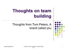 Thoughts on team building