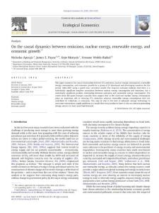 On the causal dynamics between emissions  nuclear energy  renewable energy  and economic growth
