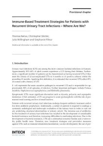 Immune based treatment strategies for patients with recurrent urinary tract infections where are we