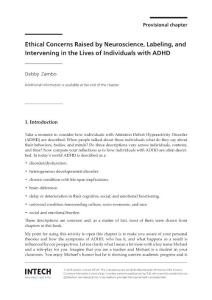 The ethical concerns raised by labeling and intervening in the lives of individuals with adhd