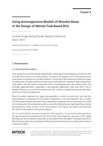 Using autoregressive models of wavelet bases in the design of mental task based bcis