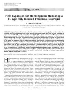 Field Expansion for Homonymous Hemianopia by …:领域扩展的同向偏盲…
