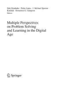 Multiple Perspectives on Problem Solving and Learning in the Digital Age