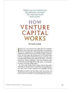 How Venture Capital Works (Harvard Business Review  7606)