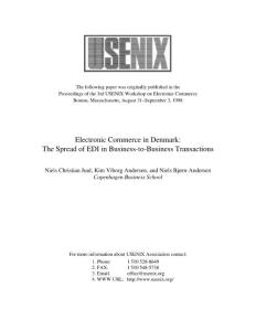 Electronic Commerce in ..