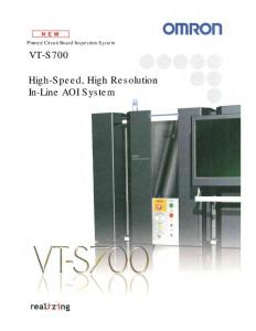 OMRON New Product  VT-S700