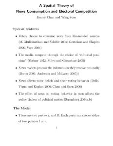 A Spatial Theory of News Consumption and Electoral Competition…