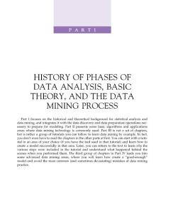 HANDBOOK OF STATISTICAL ANALYSIS AND DATA MINING APPLICATIONS - Part 1