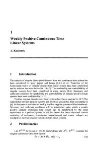 Weakly positive continuous-time linear systems