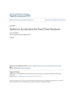 Anderson Acceleration for Fixed-Point Iterations