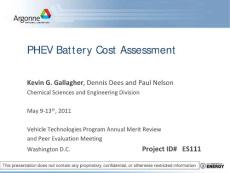 PHEV Battery Cost Assessment - US Department of ...