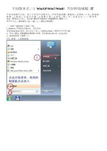 Win7Win8与WinXP混合局域..