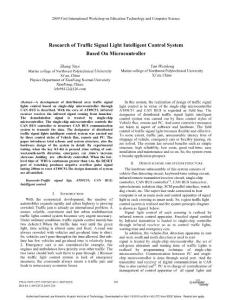 Research of Traffic Signal Light Intelligent Control System
