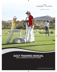Golf TraininG Manual