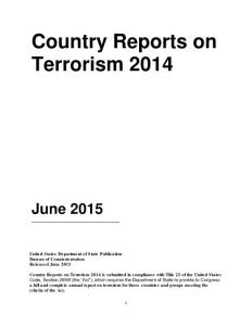 country reports on terrorism 2014 - state