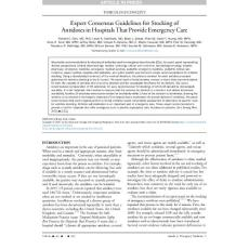 expert consensus guidelines for stocking of antidotes in hospitals that provide emergency care.[2017][ann emerg med][10.1016j.annemergmed.2017.05.0