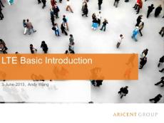 Lecture1 LTE basic Introduction