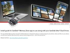 San Disk Memory Zone Quick Start Guide