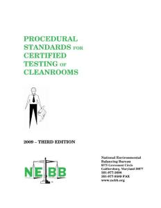 NEBB testing of cleaning