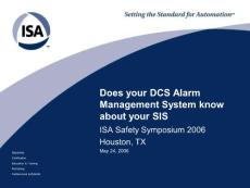 Does your DCS Alarm Management System know about your SIS