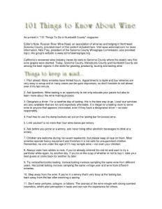101 Things to Know About Wine