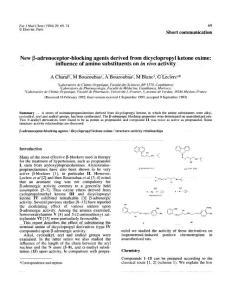 Journal of Medicinal Chemistry  29(1)  69-74; 1986
