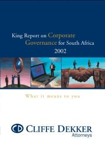 King Report on Corporate Governance for South Africa 2002