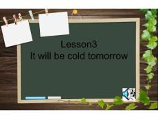 lesson3 It will be cold