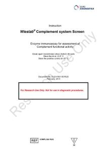 Wieslab Complement system Screen