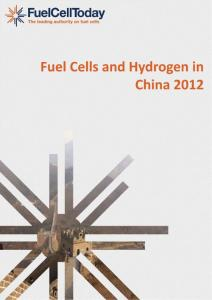 Fuel Cell and Hydrogen in China 2012 (Fuel Cell Today)