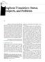 Graphene Transistors Status  Prospects and Problems IEEE 2013