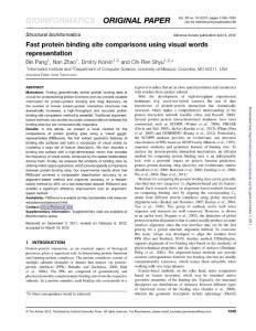 Fast protein binding sit..