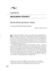社會流行病學Oakes  and Kaufman Chapter 5 - Measuring Poverty