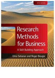 Research Methods for Business_ A Skill Building Approach - Sekaran  Uma & Bougie  Roger